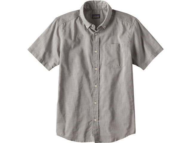 Patagonia Bluffside Lightweight SS Shirt Men Chambray: Feather Grey